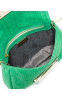 Lauren Merkin Iris Snakeskin Embossed Leather Clutch Bag - Lyst