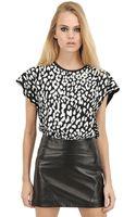 Saint Laurent Printed Cotton Jersey T-Shirt - Lyst