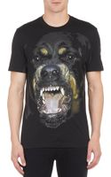 Givenchy Rottweiler Graphic T-Shirt - Lyst