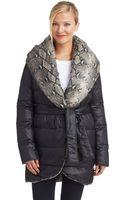 Diane Von Furstenberg Reversible Snakeskin Wrap Coat - Lyst