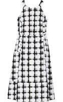 Marni Embroidered Cottonblend Organza Dress - Lyst