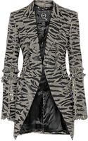 McQ by Alexander McQueen Fringed Houndstooth Wool Jacket - Lyst