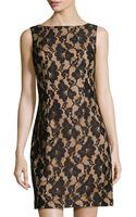 Chetta B Sleeveless Lace Sheath Dress - Lyst
