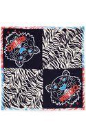 Kenzo New Tiger Head Stripes Scarf Blueredblack - Lyst