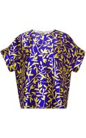 Peter Pilotto Printed Silk Top - Lyst
