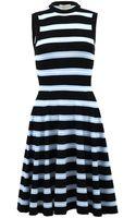 Michael Kors Striped Dress - Lyst