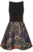 Alice + Olivia Amabel Printed Skirt Dress - Lyst
