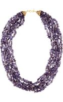 Kenneth Jay Lane Gold Plated Amethyst Necklace - Lyst
