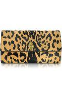 Roberto Cavalli Serpent Mini Jaguar Printed Haircalf Clutch - Lyst