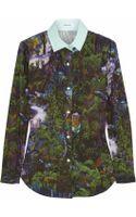 Carven Printed Cotton-poplin Shirt - Lyst