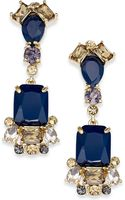 Kate Spade New York Gold-tone Blue Stone Linear Drop Earrings - Lyst