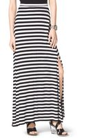 Michael Kors Striped Slit Maxi Skirt - Lyst