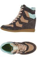 Sam Edelman Multicolour Wedge Sneakers - Lyst