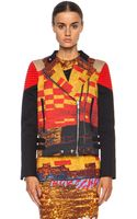Givenchy Mosaic Print Moto Cotton Jacket - Lyst