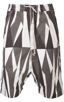 DRKSHDW by Rick Owens Striped Shorts - Lyst