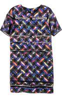 Cynthia Rowley Short Sleeve T Shirt Dress - Lyst