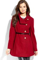 Jessica Simpson Wine Belted Asymmetrical Coat - Lyst
