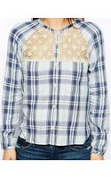 Denim & Supply Ralph Lauren Denim and Supply By Ralph Lauren Place Shirt with Lace Inserts - Lyst