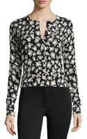 Diane Von Furstenberg Wool-blend Spotted Sweater - Lyst