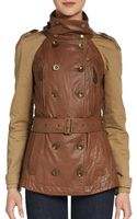 Burberry Brit Wiltfield Leather  Canvas Trench Coat - Lyst