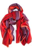 Black.co.uk Postbox Red Purple and Orange Handwoven Cashmere Shawl - Lyst