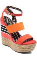 Jessica Simpson Cosset Colorblock Platform Wedge Sandals - Lyst