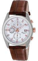 Kenneth Cole Stainless Steel Chronograph Watch with Leather Strap - Lyst
