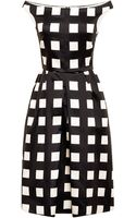 Rochas Printed Wool and Silkblend Dress - Lyst