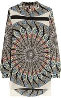 Etro Printed Washedsilk Top - Lyst