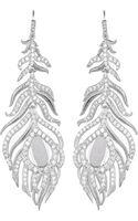 Kendra Scott Pave Linear Druzy Feather Earrings - Lyst
