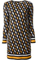 Michael by Michael Kors Diamond Print Shirt Dress - Lyst