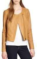Joie Emelyn Backpeplum Leather Jacket - Lyst