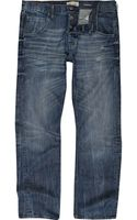 River Island Denim Straight Leg Jean - Lyst