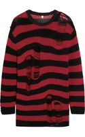 R13 Shredded Striped Cashmere Sweater - Lyst