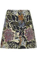Topshop Jacquard Zip A-Line Skirt  - Lyst