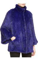 Armani Knittedrabbit Fur Relaxed Jacket - Lyst