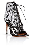 Givenchy Leather Lace Open Toe Booties  - Lyst