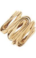 Oscar de la Renta Yellow Golden Wave Cuff Bracelet - Lyst