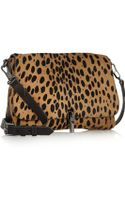 Elizabeth And James Cynnie Mini Leopardprint Calf Hair Shoulder Bag - Lyst