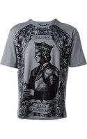 Dolce & Gabbana King Print Tshirt - Lyst