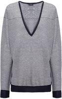 Joseph Cashair Stripe V Sweater - Lyst