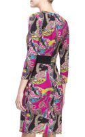 Etro Longsleeve Paisley Cady Dress - Lyst