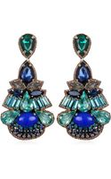 Suzanna Dai Khepri Drop Earrings Bluegreen - Lyst