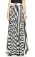 Milly Striped Maxi Skirt Blackwhite - Lyst