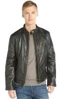 Marc New York Black Distressed Leather Radford Moto Jacket - Lyst