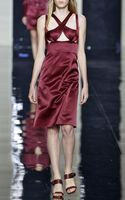 Christopher Kane Burgundy Sleeveless Bondage Dress - Lyst