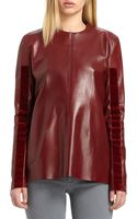 Acne Studios Met Velvet-trimmed Leather Top - Lyst