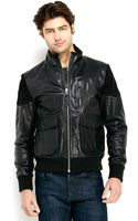 PRPS Black Leather Motorcycle Jacket - Lyst