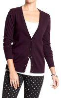Old Navy Button-front V-neck Cardis - Lyst