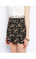 Asos Ditsy Floral Printed Culotte Shorts - Lyst